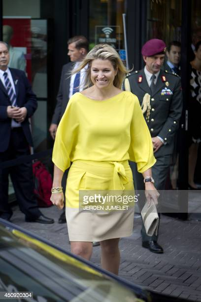 Queen Maxima of the Netherlands acting as United Nations SecretaryGeneral's Special Advocate for Inclusive Finance for Development leaves after...