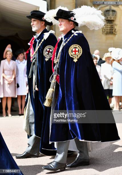 Queen Maxima of the Netherlands and Catherine Duchess of Cambridge look on as King Felipe of Spain and King WillemAlexander of the Netherlands take...