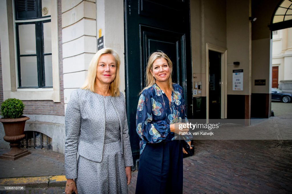 Queen Maxima of The Netherlands and Dutch minister of Development Sigrid Kaag attend the G20 Workshop of the Global Partnership for Financial Inclusion on September 10, 2018 in The Hague, Netherlands.