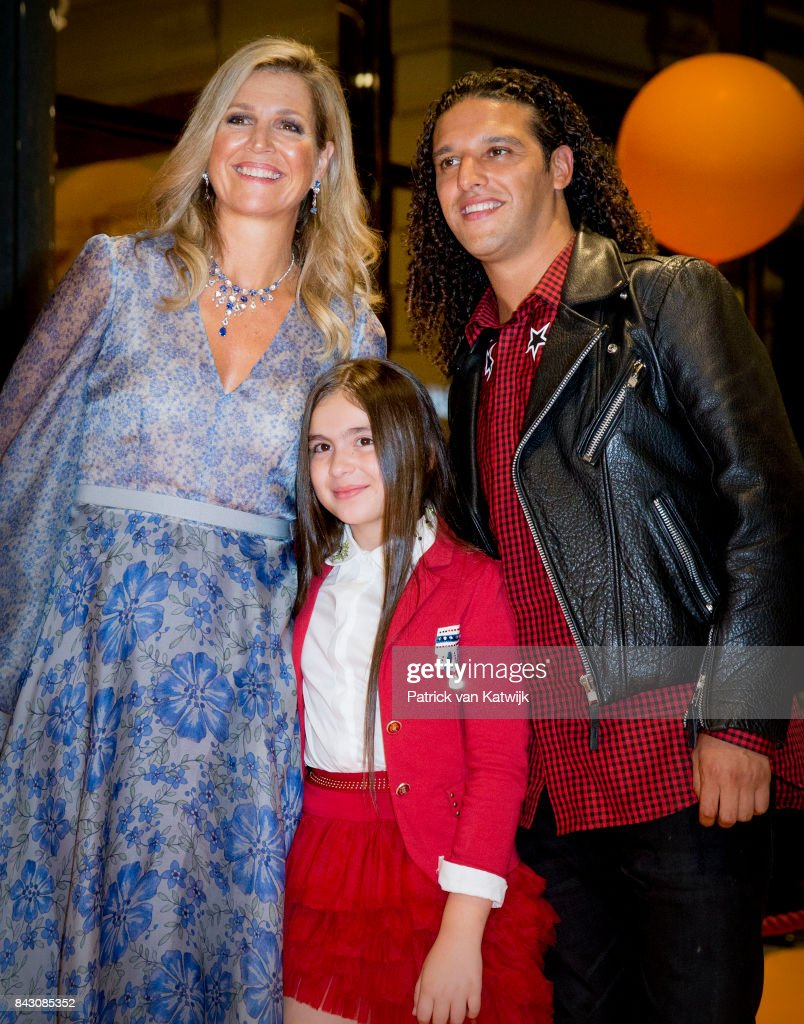 Queen Maxima of The Netherlands and Dutch rapper Ali B attends the benefit gala dinner for the Princess Maxima Center for childrenÕs oncology in the Concertbuilding on September 5, 2017 in Amsterdam, Netherlands. The benefits of the dinner go to two projects of the Center; the parent-child rooms and an intra-operative MRI scan.