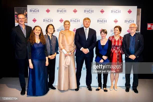 Queen Maxima of The Netherlands and King Willem-Alexander of The Netherlands and guests attend the 100th anniversary Jubilee of the Dutch Bach...