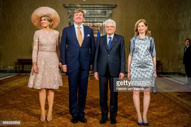 Queen Maxima of The Netherlands and King WillemAlexander of The Netherlands and Queen Maxima of The Netherlands pose for a photo with President...