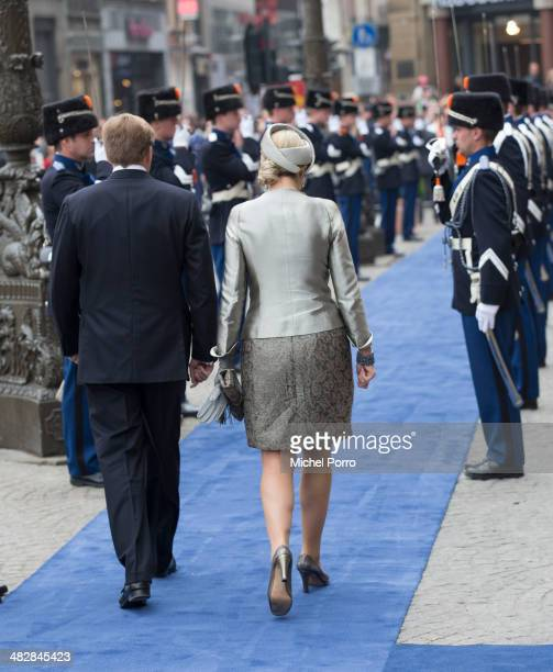 Queen Maxima of The Netherlands and King WillemAlexander of The Netherlands at the start of an official two day visit to Holland by King Carl XVI...