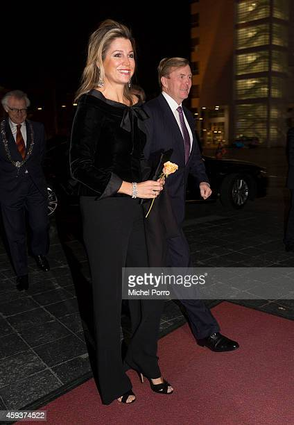 Queen Maxima of The Netherlands and King WillemAlexander of The Netherlands arrive for the Residentie Orkest 110th Anniversary on November 21 2014 in...