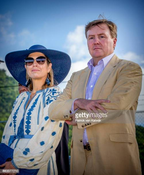 Queen Maxima of The Netherlands and King WillemAlexander of The Netherlands visit Solar Park and the reconstruction of houses on November 30 2017 in...