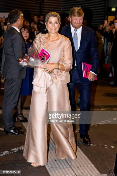 Queen Maxima of The Netherlands and King Willem-Alexander of The Netherlands attend the 100th anniversary Jubilee of the Dutch Bach Society in Tivoli...