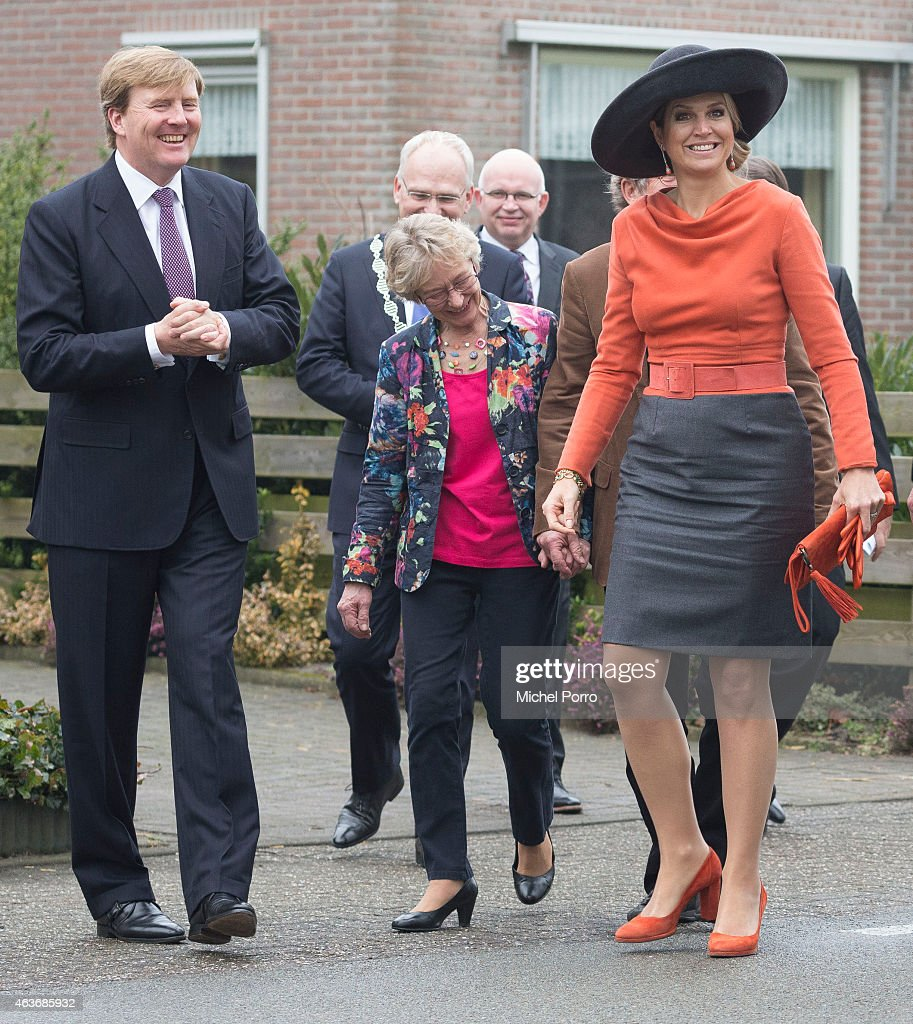 Queen Maxima of The Netherlands and King Willem-Alexander of The Netherlands Visit The North East Of Holland : News Photo