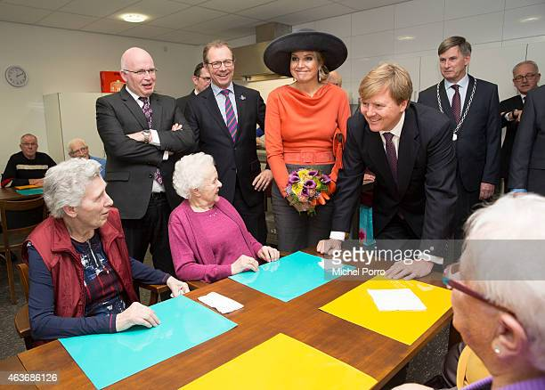 Queen Maxima of The Netherlands and King WillemAlexander of The Netherlands visit the multi functional venue De Deele on February 17 2015 in Emmer...