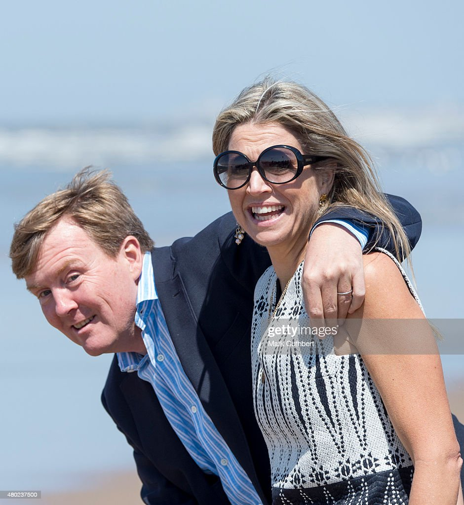 Queen Maxima of the Netherlands and King Willem-Alexander of the Netherlands attend the annual summer photocall on July 10, 2015 in Wassenaar, Netherlands.