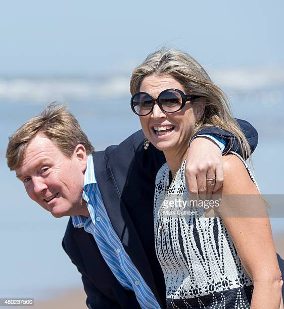 Queen Maxima of the Netherlands and King WillemAlexander of the Netherlands attend the annual summer photocall on July 10 2015 in Wassenaar...
