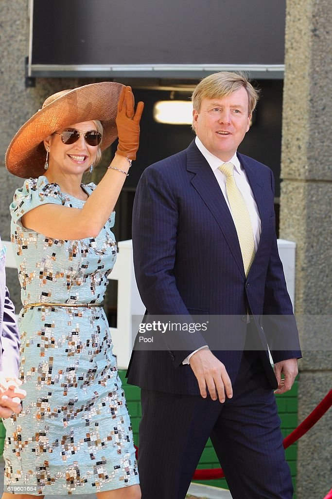 Queen Maxima of the Netherlands and King Willem-Alexander of the Netherlands visit the Ascot Racecourse on Melbourne Cup Day on November 01, 2016 in Perth, Australia. The Dutch King and Queen are in Perth to commemorate the 400th anniversary of the landing of Dutch explorer Dirk Hartog in Western Australia.