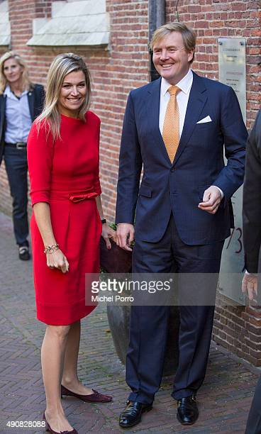Queen Maxima of The Netherlands and King WillemAlexander of The Netherlands arrive to attend the symposium 'China in The Netherlands' on October 1...