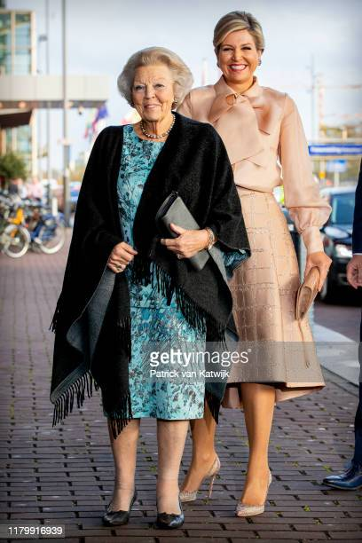 Queen Maxima of The Netherlands and Princess Beatrix of The Netherlands attend the award ceremony of the Prince Bernhard Culture Foundation to the...