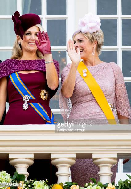 Queen Maxima of The Netherlands and Princess Laurentien of The Netherlands during Prinsjesdag the opening of the parliamentary year on September 17...