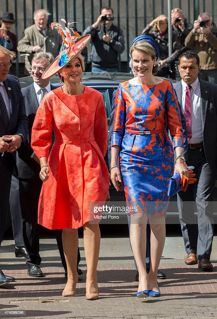 Queen Maxima of The Netherlands and Queen Mathilde of Belgium Open Sculpture Exhibition Vormidable : News Photo