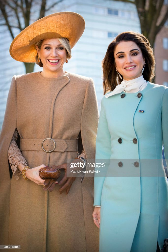King Abdullah II Of Jordan And Queen Rania Of Jordan On Official Visit In The Hague : Day One : Nieuwsfoto's