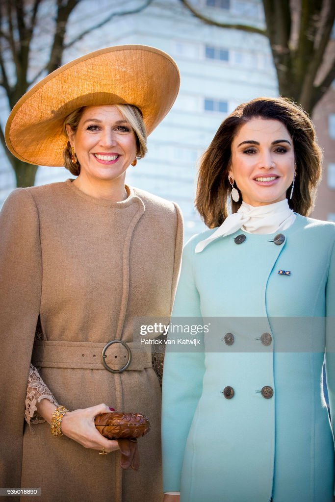 King Abdullah II Of Jordan And Queen Rania Of Jordan On Official Visit In The Hague : Day One