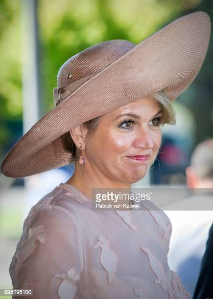 Queen Maxima of The Netherlands arrive at the airport Ciampino on June 20 2017 in Rome Italy The King and Queen of the Netherlands are in Italy for...