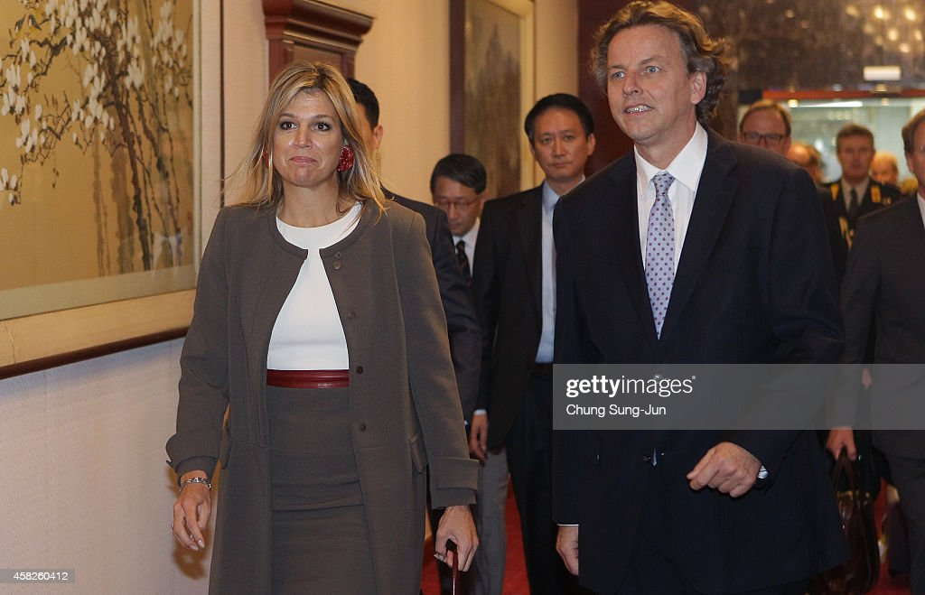 King Willem-Alexander Of Netherland Visits South Korea - Day 1 : News Photo