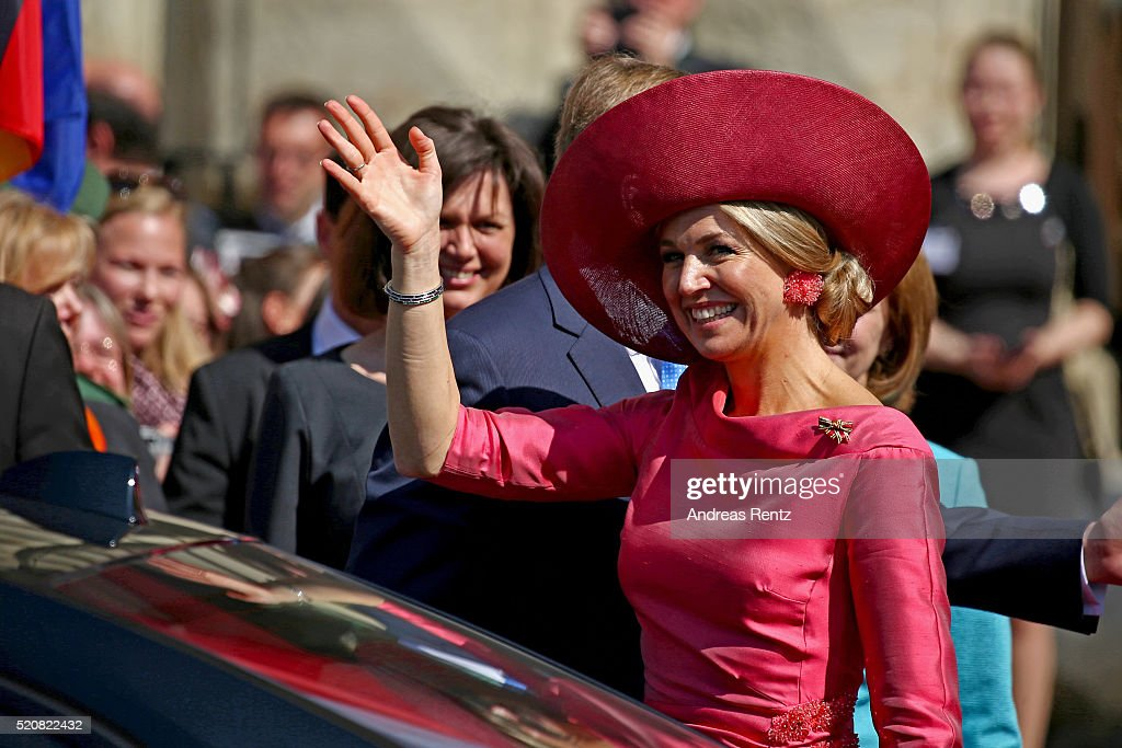 King Willem-Alexander And Queen Maxima Of The Netherlands Visit Bavaria - Day 1 : News Photo