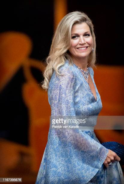 Queen Maxima of The Netherlands arrives at Noordeinde Palace for the gala diner for the members of the Dutch Council of State on September 11, 2019...