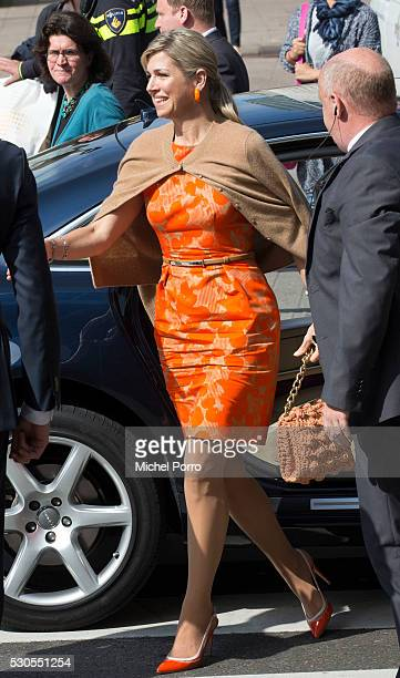 Queen Maxima of The Netherlands arrives at the Adaptation Futures Climate Conference on May 11, 2016 in Rotterdam, The Netherlands. The conference...