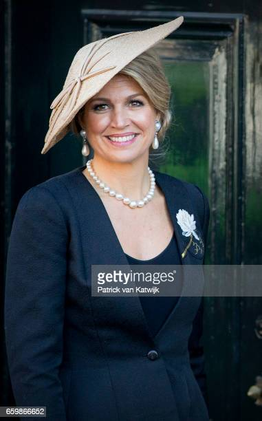 Queen Maxima of The Netherlands arrives at the Anne Frank House in Amsterdam on March 27 2017 in Amsterdam The Netherlands The President of Argentina...