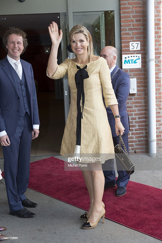 Queen Maxima Of Holland Attends Concert In Home For The Elderly : News Photo