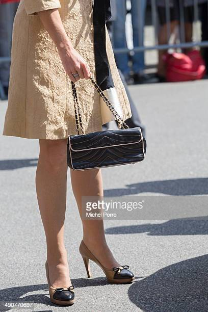 Queen Maxima of The Netherlands arrives at the home for the elderly De Bolder to attend a jubilee concert celebrating 15 years Stichting Muziek in...