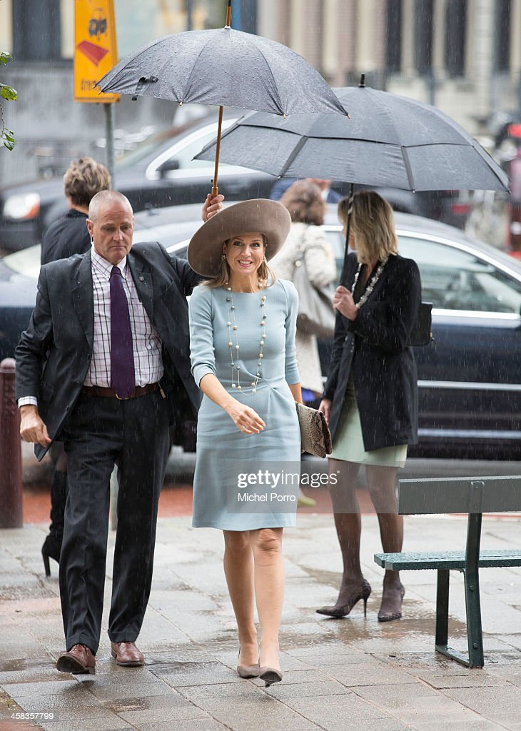 Queen Maxima of The Netherlands arrives for the opening of the new visitor center of the Netherlands Bank on September 22, 2015 in Amsterdam, Netherlands.