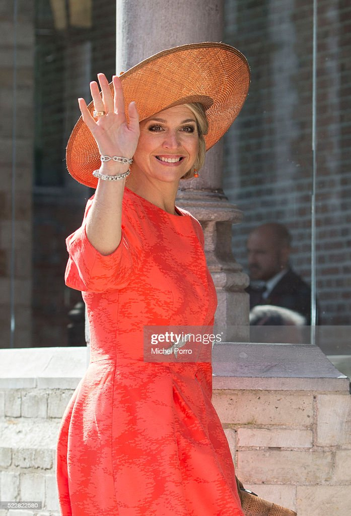 Queen Maxima of The Netherlands arrives to attend the Four Freedoms Awards on April 21, 2016 in Middelburg Netherlands.