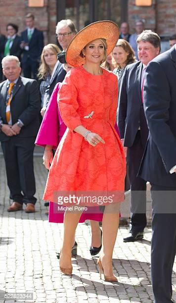 Queen Maxima of The Netherlands arrives to attend the Four Freedoms Awards on April 21, 2016 in Middelburg, Netherlands.