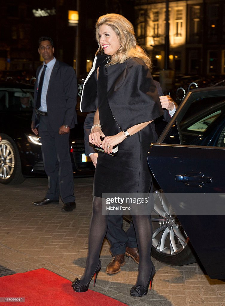 Queen Maxima of The Netherlands arrives to attend the last concert by conductor Mariss Jansons at the Royal Concertgebouw Orchestra on March 20, 2015 in Amsterdam, The Netherlands.