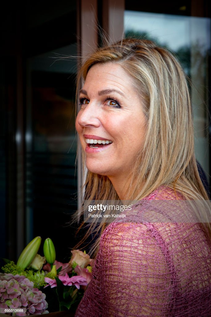 Queen Maxima of The Netherlands arrives to give the start signal for the 12 edition of Neighbours' Day (Burendag) on June 13, 2017 in Nieuw-Buinen, Netherlands. During Neighbours' Day residents organize activities which bring the neighbourhood together. The day is organized by the Oranje Foundation of which Queen Maxima is a patron.