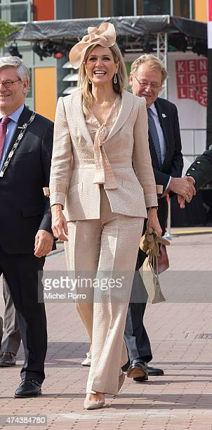 Queen Maxima of The Netherlands arrives to open the new Koninklijke Kentalis diagnostic care education centre for people with a severe hearing and or...