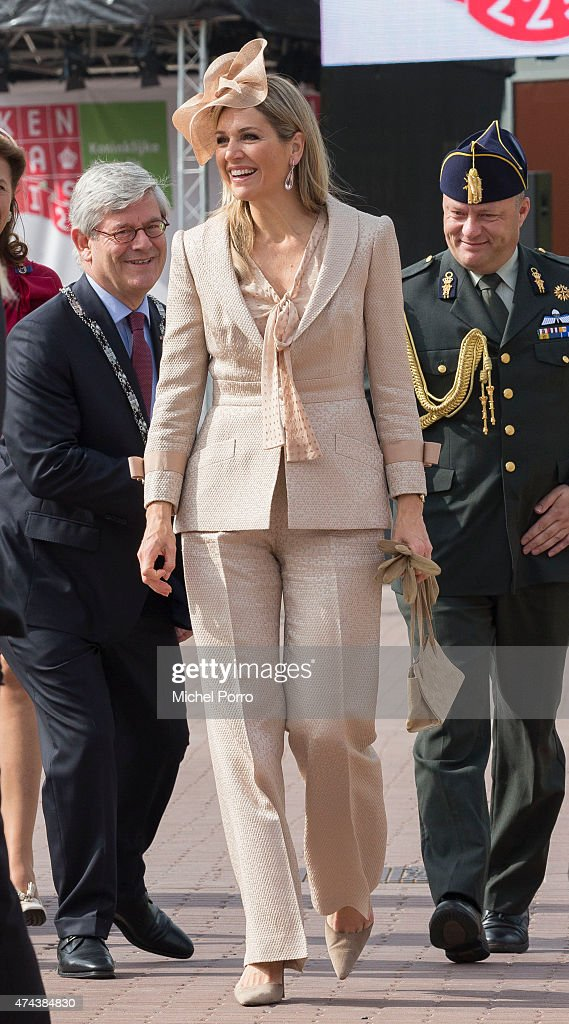 Queen Maxima of The Netherlands arrives to open the new Koninklijke Kentalis diagnostic care education centre for people with a severe hearing and or vision disability on May 22, 2015 in Zoetermeer, Netherlands.