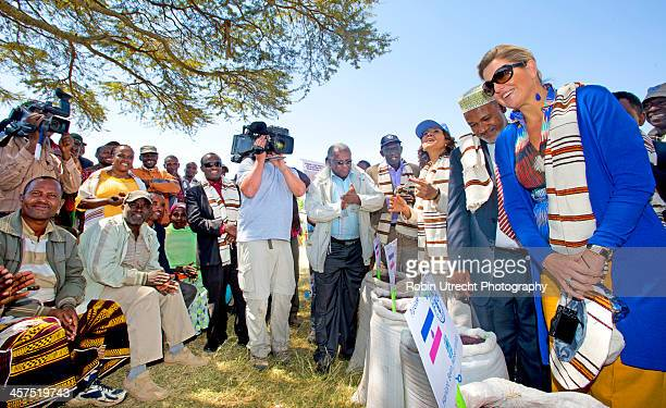 Queen Maxima of the Netherlands at a market during her 5 day visit to Ethiopia and Tanzania in her role as United Nations Secretary General's Special...