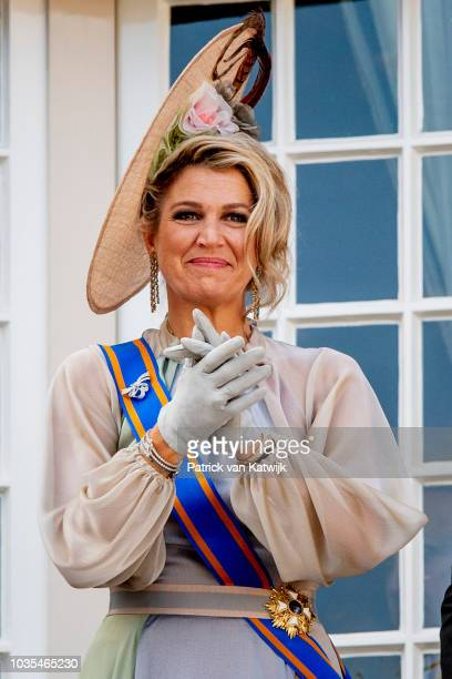 Queen Maxima of The Netherlands at Palace Noordeine for the annual opening of the Parliamental year Prinsjesdag on September 18 2018 in The Hague...