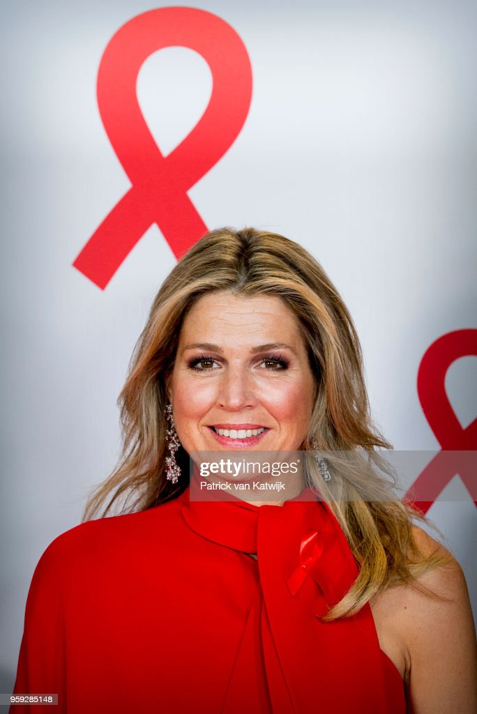 King Willem-Alexander Of The Netherlands And Queen Maxima Attend The Red Ribbon Concert in Afas live In Amsterdam
