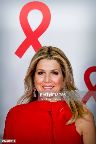 Queen Maxima of The Netherlands at the Red Ribbon Concert organized by the AIDS2018 organizations on May 16 2018 in Amsterdam Netherlands