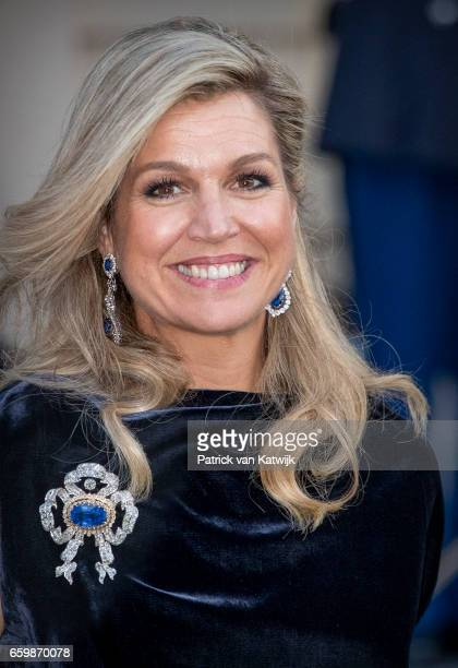 Queen Maxima of The Netherlands at theater Dilligentia after the ballet performance offered by the Argentinean president on March 28 2017 in The...