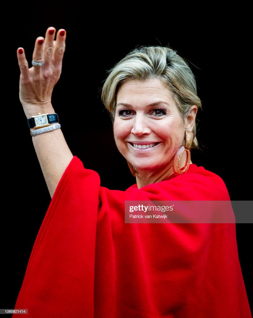 The Netherlands Royal Family Attends The Erasmus Ceremony At The Royal Palace In Amsterdam : Nieuwsfoto's