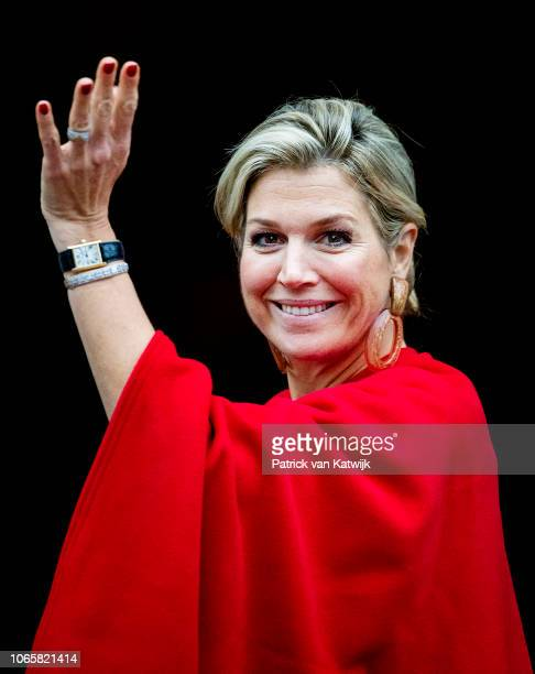 Queen Maxima of the Netherlands attend the award ceremony of the Erasmus Prize 2018 to writer and journalist Barbara Ehrenreich on November 27 2018...