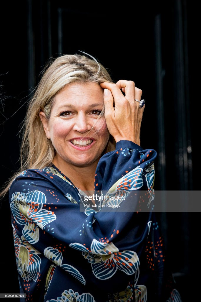 Queen Maxima Of The Netherlands Attends The G20 Workshop On Inclusive Finance In The Hague : Nieuwsfoto's