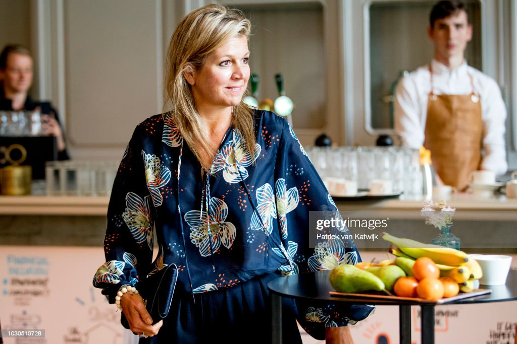 Queen Maxima Of The Netherlands Attends The G20 Workshop On Inclusive Finance In The Hague : News Photo