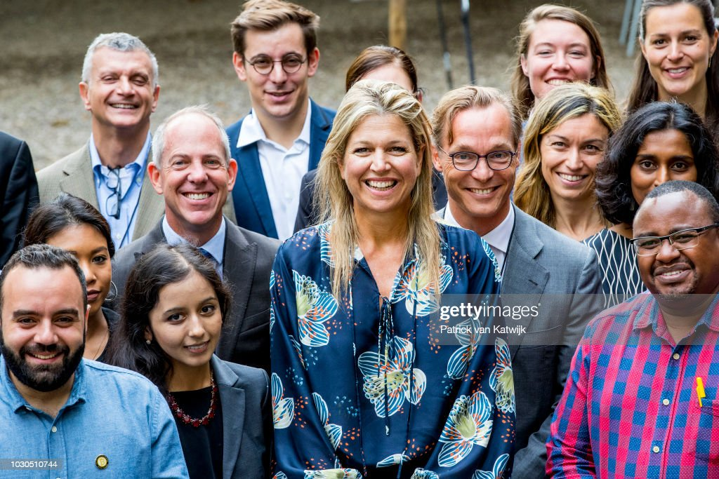 Queen Maxima of The Netherlands attend the G20 Workshop of the Global Partnership for Financial Inclusion on September 10, 2018 in The Hague, Netherlands.