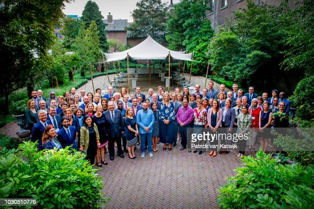 Queen Maxima of The Netherlands attend the G20 Workshop of the Global Partnership for Financial Inclusion on September 10 2018 in The Hague...