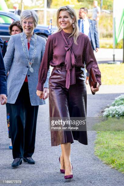 Queen Maxima of The Netherlands attend the meeting of NLgroeit at Centraal Beheer on September 19 2019 in Apeldoorn Netherlands Nlgroeit is a...