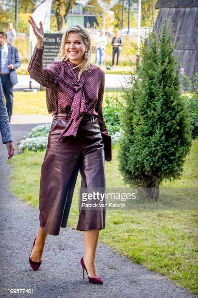 Queen Maxima of The Netherlands attend the meeting of NLgroeit at Centraal Beheer on September 19, 2019 in Apeldoorn, Netherlands. Nlgroeit is a...