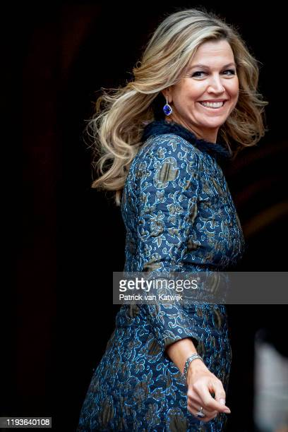 Queen Maxima of The Netherlands attend the New Year Reception in the Royal Palace on January 14, 2020 in Amsterdam, Netherlands.